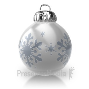 ID# 7129 - Christmas Ornament - Presentation Clipart