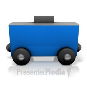 ID# 7131 - Toy Train Box Car - Presentation Clipart