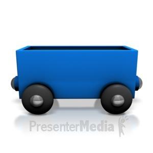 ID# 7132 - Toy Train Coal Car - Presentation Clipart