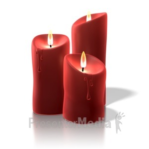 ID# 7144 - Christmas Candles - Presentation Clipart