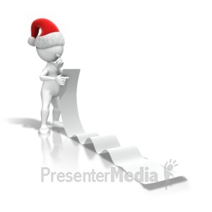 ID# 7154 - Christmas Figure Reading List - Presentation Clipart