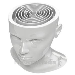 ID# 7186 - Maze In Head - Presentation Clipart