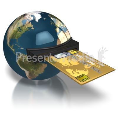 World Credit Card PowerPoint Clip Art