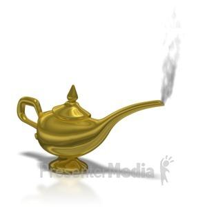 ID# 7205 - Aladdin Lamp Smoke - Presentation Clipart