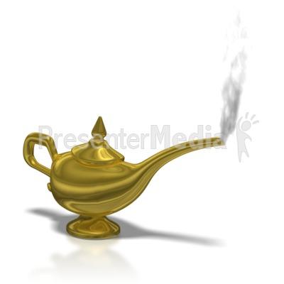Aladdin Lamp Smoke PowerPoint Clip Art