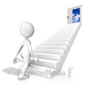 ID# 7210 - Walk Toward Opportunity - Presentation Clipart
