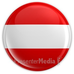 ID# 7219 - Badge Button Austria Flag - Presentation Clipart