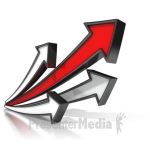 ID# 7220 - Lead Arrow Soaring - Presentation Clipart