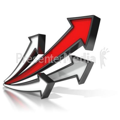 Lead Arrow Soaring PowerPoint Clip Art