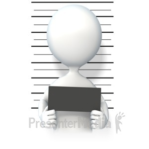 ID# 7224 - Figure Mug Shot - Presentation Clipart