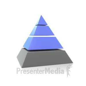 ID# 7232 - Three Highlighted Pyramid - Presentation Clipart