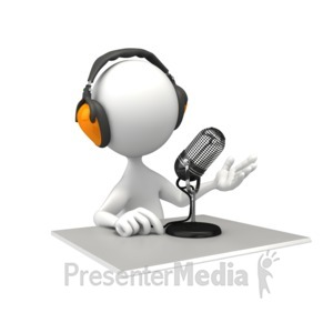 ID# 7261 - Podcasting - Presentation Clipart