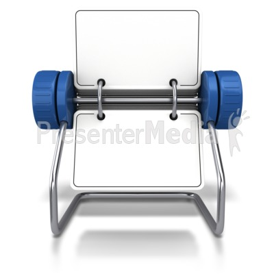 Front Facing Office Card Holder PowerPoint Clip Art
