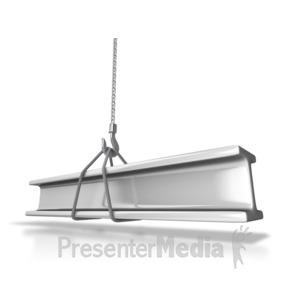 ID# 7303 - Hauling Steel Beam - Presentation Clipart