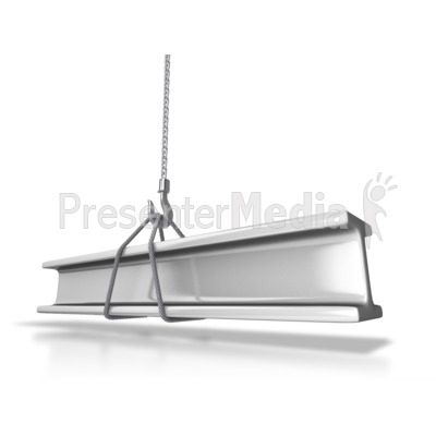Hauling Steel Beam PowerPoint Clip Art