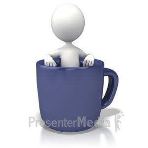 ID# 7308 - Coffee Break - Presentation Clipart