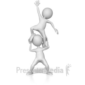 ID# 7313 - Stick Figure Boost - Presentation Clipart