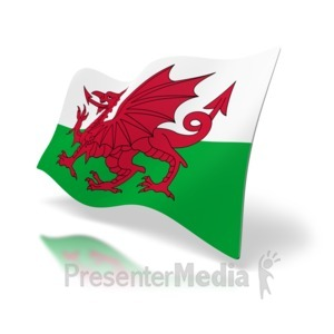 ID# 7320 - Wales Flag - Presentation Clipart