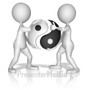 ID# 7332 - Put Together Yin Yang Symbol - Presentation Clipart