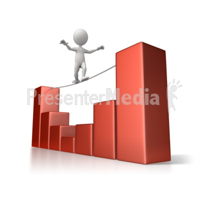 Tightrope Navigation PowerPoint Clip Art