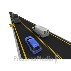 ID# 7398 - Highway No Passing Vehicle Left Lane - Presentation Clipart