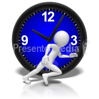 ticking clock animation free download. id 7435 stick figure run clock presentation clipart ticking animation free download