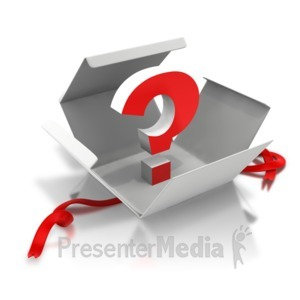 ID# 7444 - Question Inside - Presentation Clipart