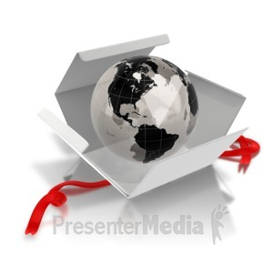 ID# 7460 - World Inside - The West - Presentation Clipart