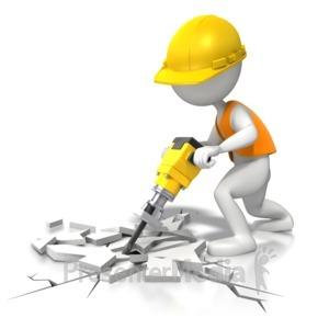 ID# 7525 - Jackhammer - Under Construction - Presentation Clipart