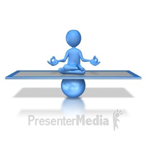 ID# 7581 - Stick Figure Balanced - Presentation Clipart