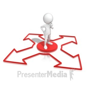 ID# 7583 - Which Direction To Go? - Presentation Clipart
