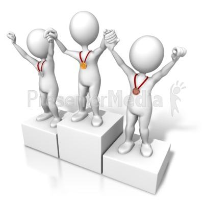 Winners Raising Hands PowerPoint Clip Art