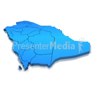 Saudi Arabia Map Outline Saudi Arabia Blue Map Outline