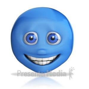 ID# 7636 - Emotion Head Big Grin - Presentation Clipart