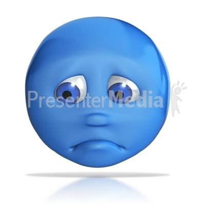 Emotion Head Sad Frown PowerPoint Clip Art