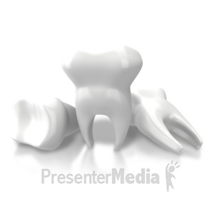 ID# 7646 - Three Teeth Extracted - Presentation Clipart