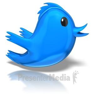 ID# 7647 - Toony Bird - Presentation Clipart