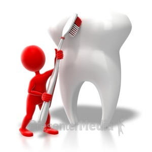 ID# 7652 - Brush That Tooth - Presentation Clipart