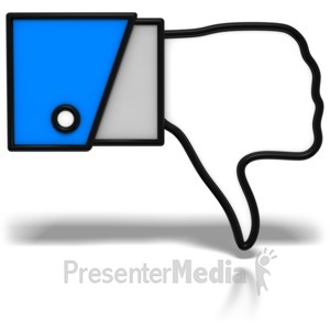 ID# 7662 - Thumbs-Down Icon - Presentation Clipart