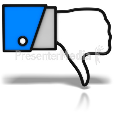 Thumbs-Down Icon PowerPoint Clip Art
