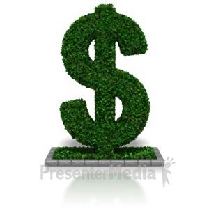 ID# 7664 - Hedge Fund Dollar - Presentation Clipart