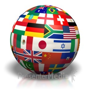 ID# 7670 - Country Flags Of The World - Presentation Clipart