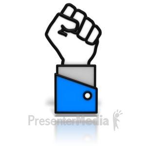 ID# 7673 - Power Fist Icon - Presentation Clipart