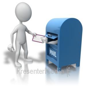 ID# 7807 - Mailbox Recipient - Presentation Clipart