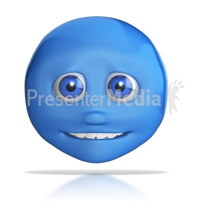 Emotion Head Small Smile PowerPoint Clip Art