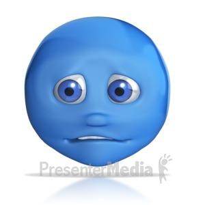 ID# 7838 - Emotion Head Uneasy - Presentation Clipart