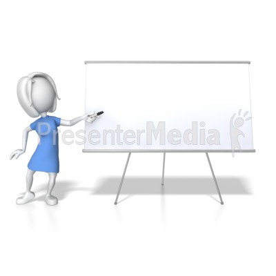 Woman Presenting Blank Board PowerPoint Clip Art