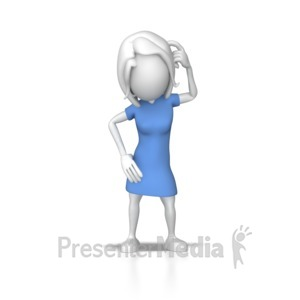 ID# 7863 - Woman Puzzled - Presentation Clipart