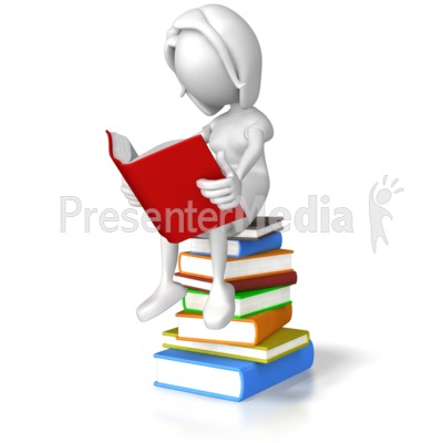Presenter media powerpoint templates 3d animations and clipart id 7865 woman sitting on books presentation clipart toneelgroepblik Images
