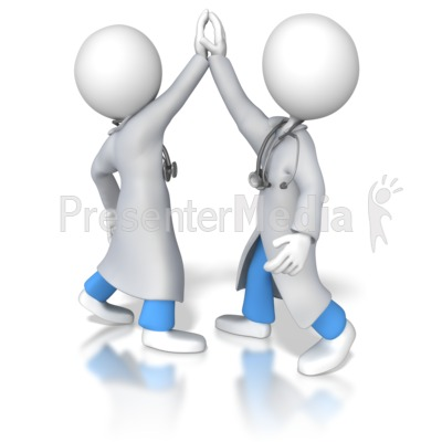 Nurse or Doctor Team High Five - Medical and Health - Great ...